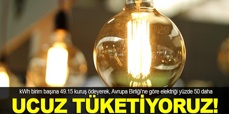 Ucuz elektrik tüketiyoruz!