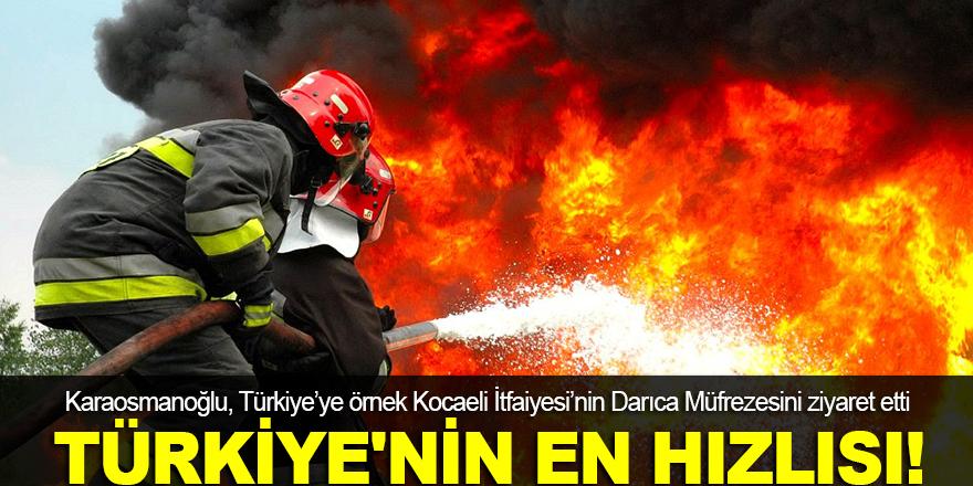 Türkiye'nin en hızlı itfaiyesi!