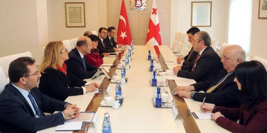 Bakan Soylu, Gürcistan Başbakanı ile bir araya geldi