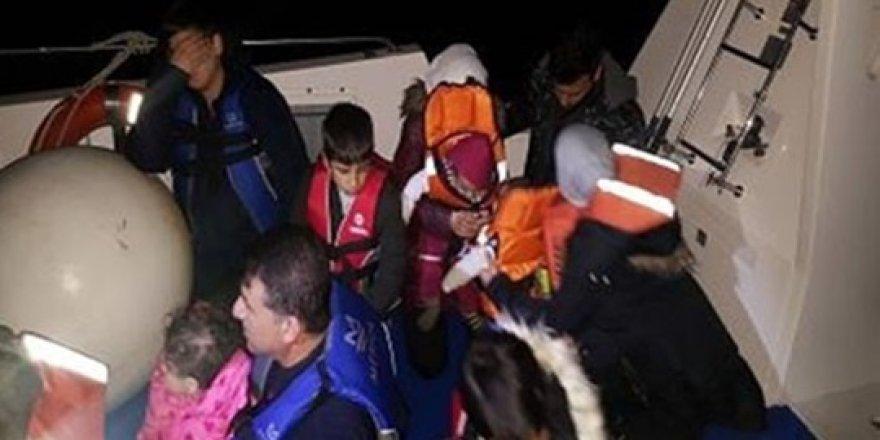 18 kaçak göçmen yakalandı