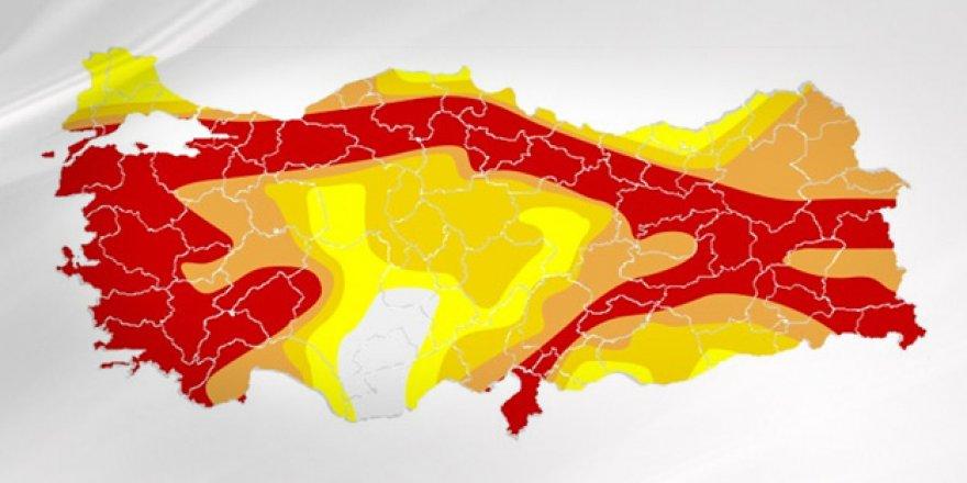 52 İl Merkezinin Deprem Değeri Değişti ! İşte Türkiye'nin Yeni Deprem Haritası