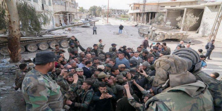 Esad güçleri bombalamaya devam etti!
