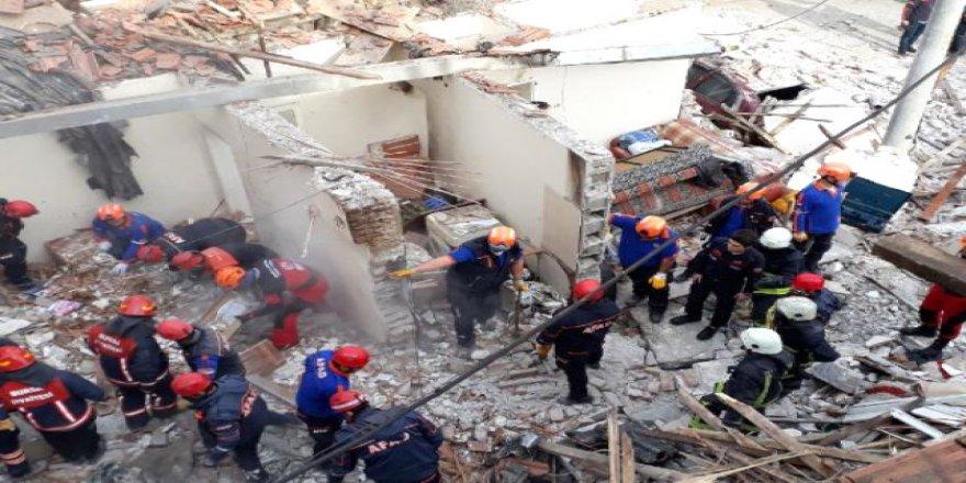 Doğal gaz patlaması: 1 ölü, 2 yaralı