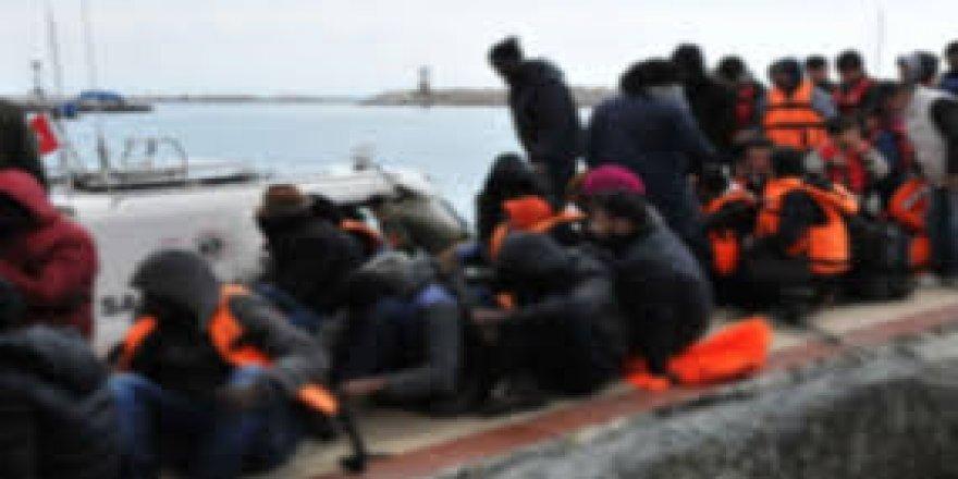 64 kaçak göçmen yakalandı
