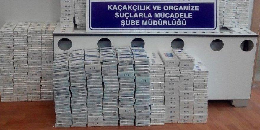 Gizli bölmede 2 bin 560 paket kaçak sigara ele geçirildi