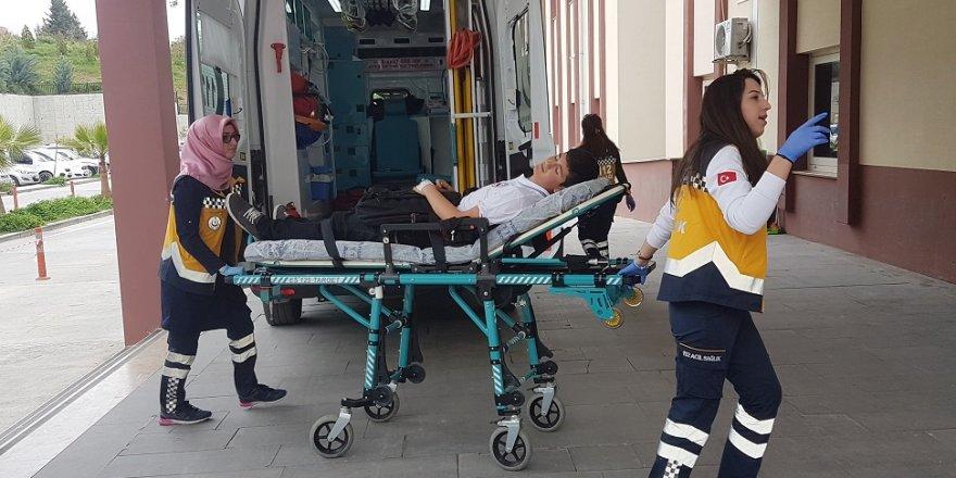 Okul servisi öğrenciye çarptı: 1 yaralı