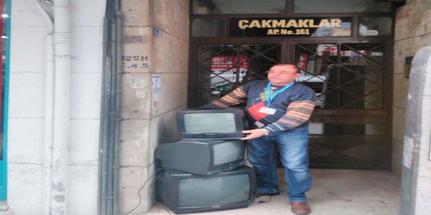 İzmit'te bir haftada 1 ton elektronik atık toplandı