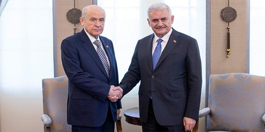 Başbakan Yıldırım, Bahçeli'yi ziyaret etti