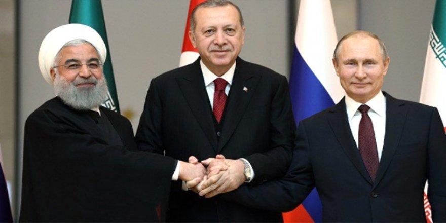 Erdoğan-Putin-Ruhani Beştepe'de buluştu