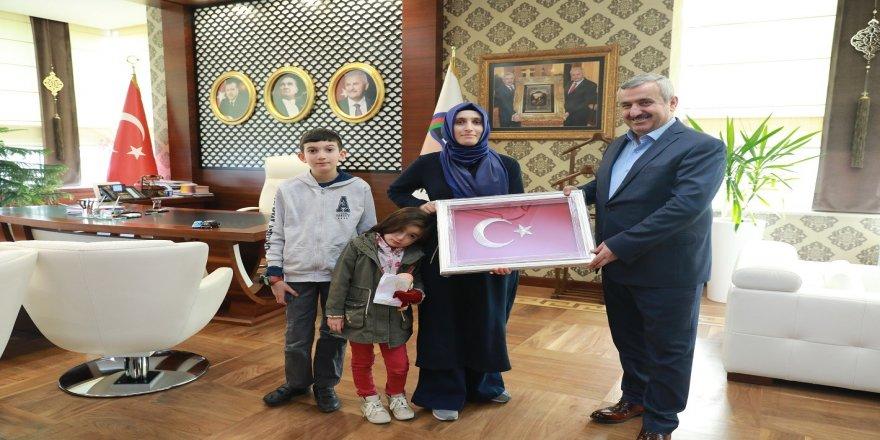 Başkan Baran, 15 Temmuz Şehidi'nin eşini ağırladı