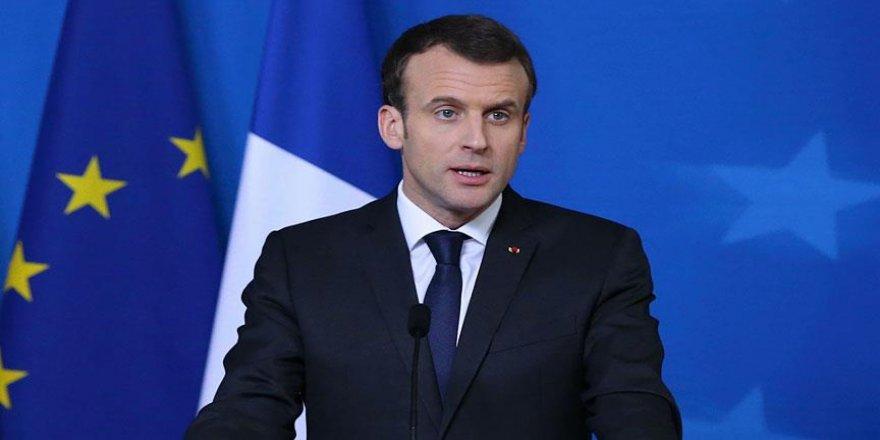 """Macron: """"Suriye'de tek sorumluluğumuz DEAŞ değil"""""""