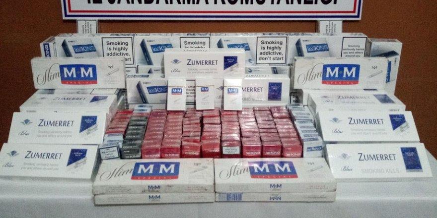 815 paket kaçak sigara ele geçirildi