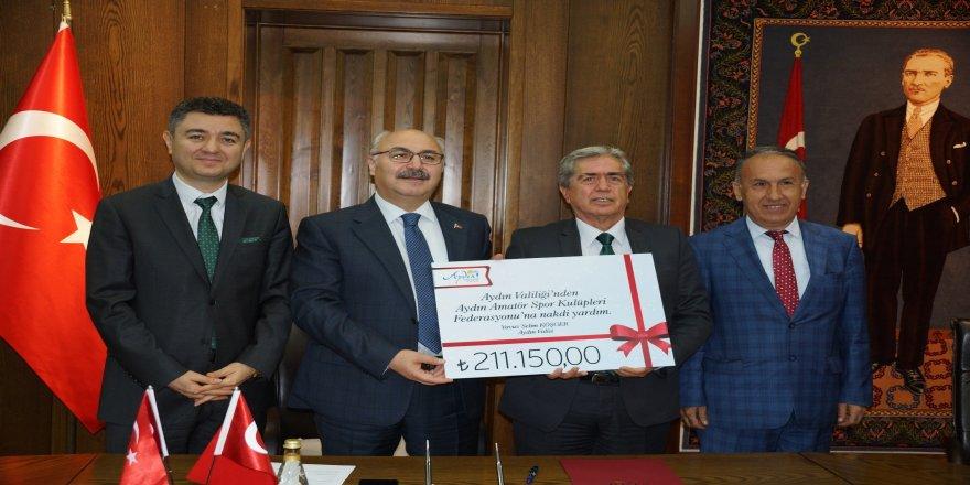 Amatör spora 211 bin liralık malzeme desteği