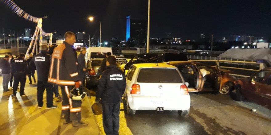 10 araç birbirine girdi: 5 yaralı