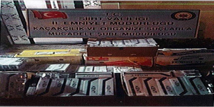5 bin 600 paket kaçak sigara ele geçirildi