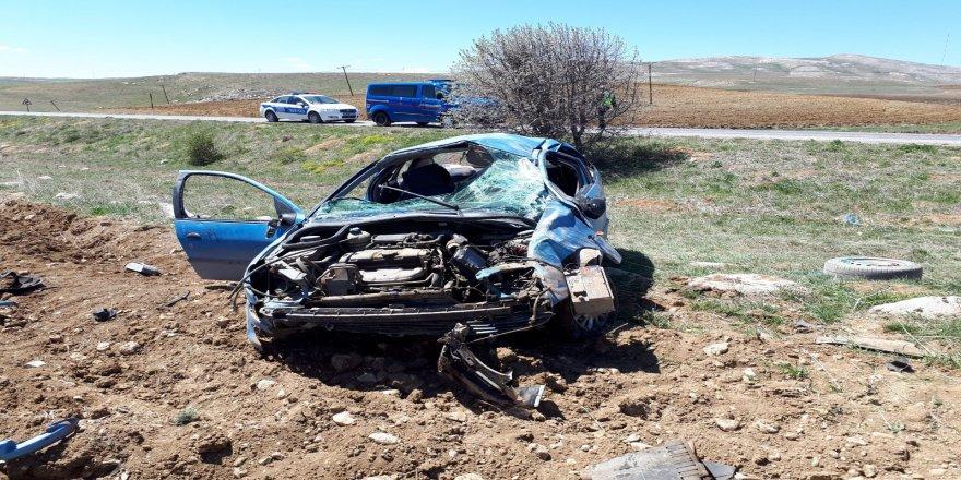 Trafik kazası 4 yaralı