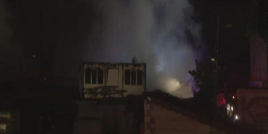 Strafor fabrikasında yangın