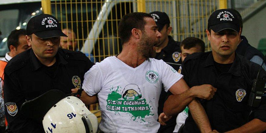 Konyasporlu 2 taraftara gözaltı
