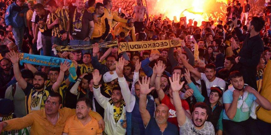 Ankaragücü taraftarının Süper Lig coşkusu