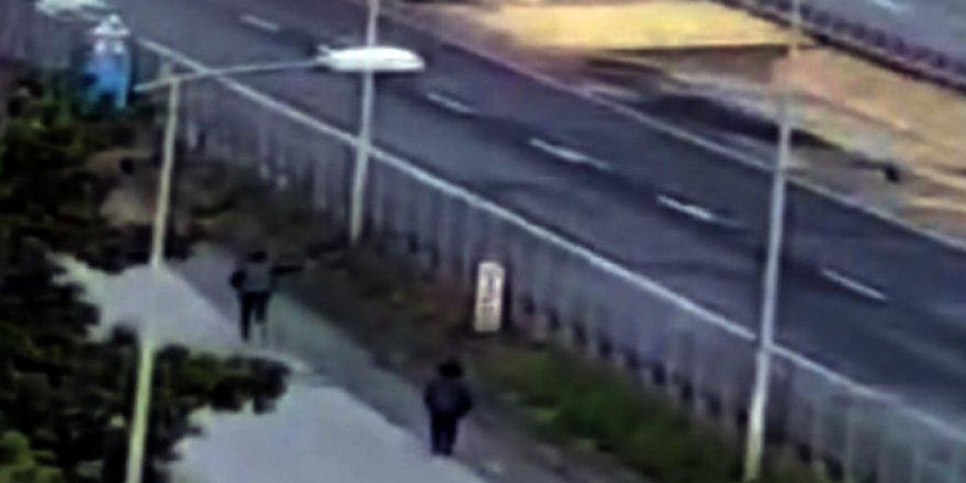 Hastaneden kaçan mahkum ile jandarmanın kovalamacası kamerada