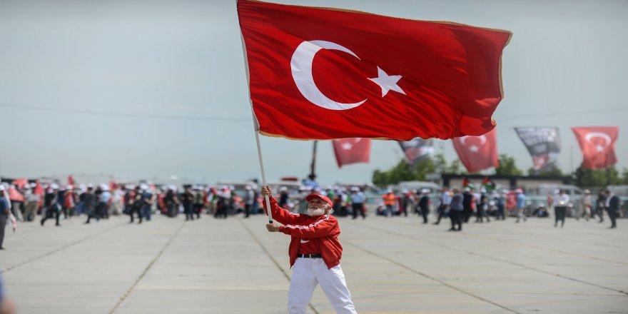 Cumhurbaşkanı Erdoğan ve MHP Genel Başkanı Devlet Bahçeli el ele