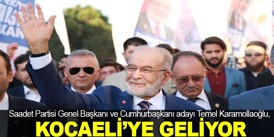 Temel Karamollaoğlu, Kocaeli'ye geliyor