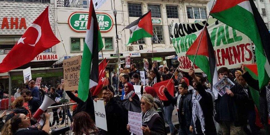 Avustralya'da Filistin'e destek gösterisi