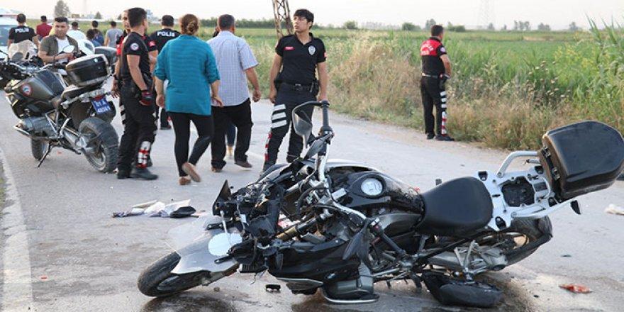 Polis limon hırsızlarını kovalarken kaza yaptı