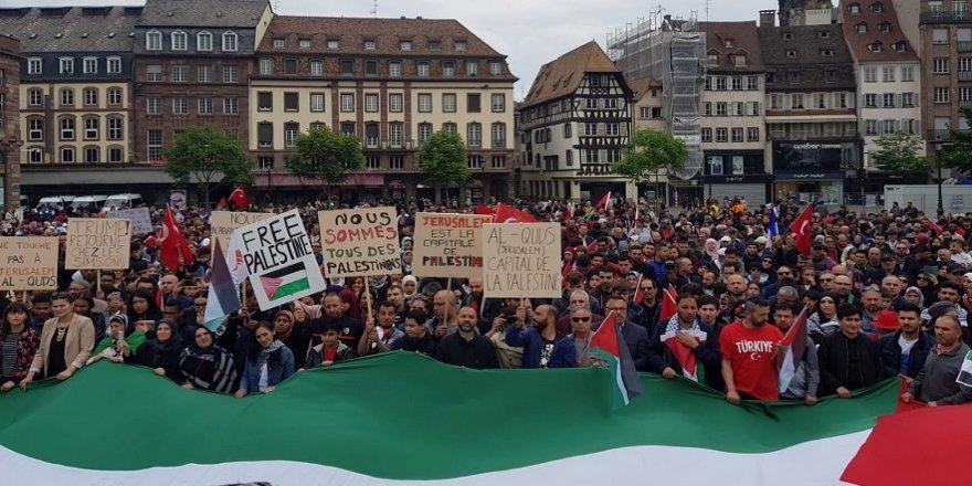 Strasbourg'dan Filistin'e destek