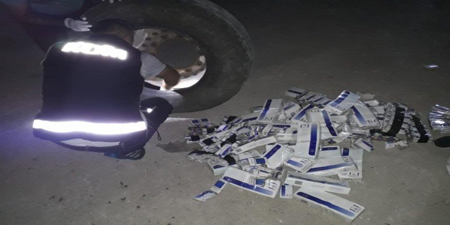 Kamyon lastiklerinde kaçak sigara sevkiyatı