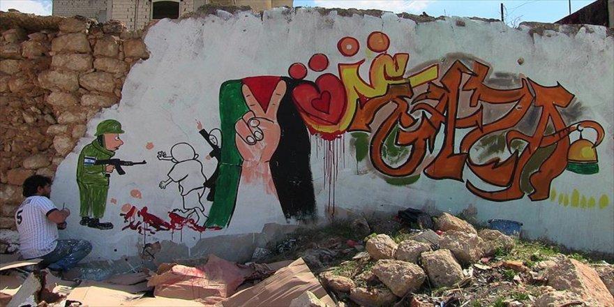 Kudüs ve Gazze'ye grafitili destek