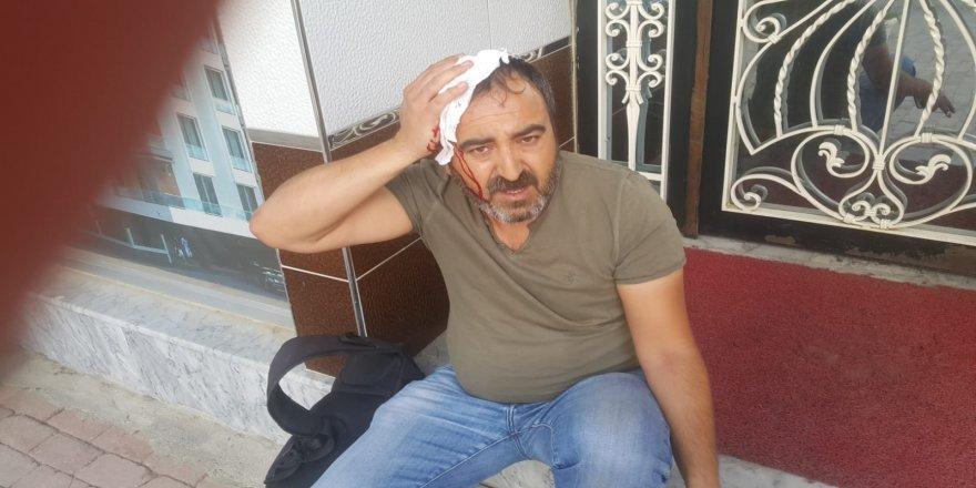 Saldırıya uğrayan yerel gazeteci hastanelik oldu