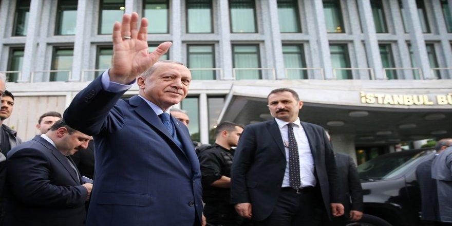 Erdoğan'dan İstanbul Büyükşehir Belediyesi'ne ziyaret