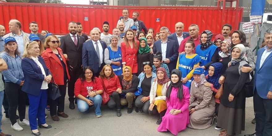 CHP'den Flormar işçisine destek