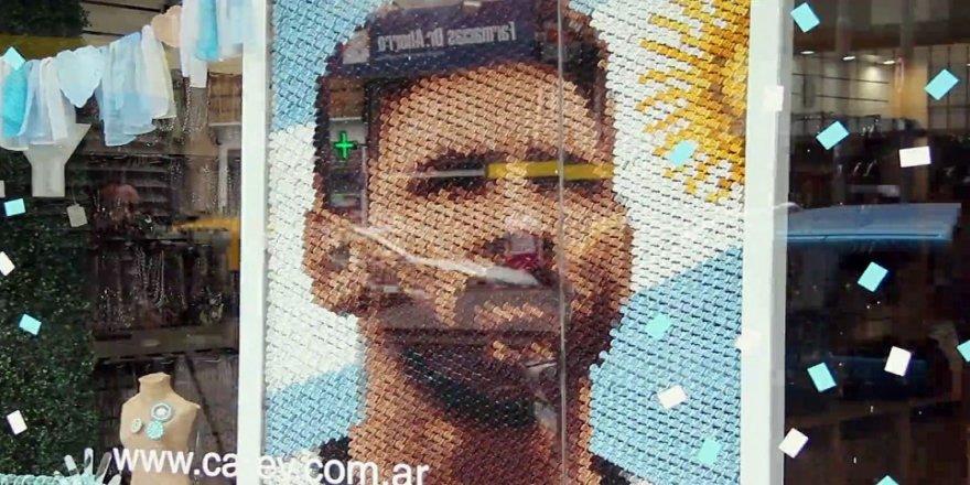 6 bin tokadan Messi portresi