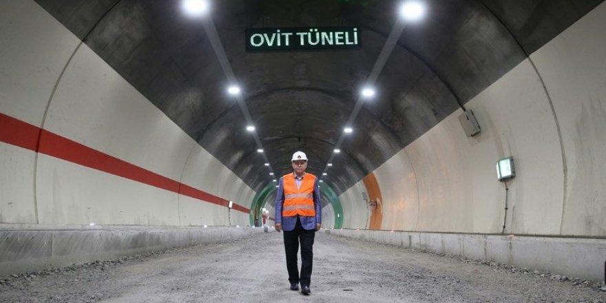 Ovit Tüneli'ni Cumhurbaşkanı Erdoğan açacak