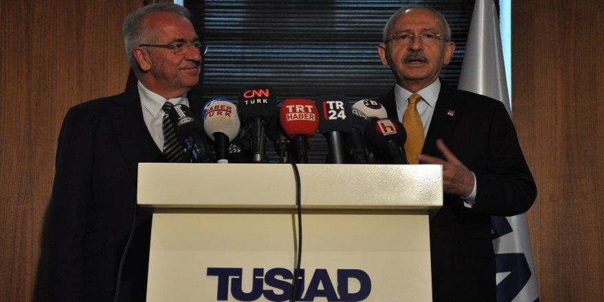 Kılıçdaroğlu, TÜSİAD'ı ziyaret etti