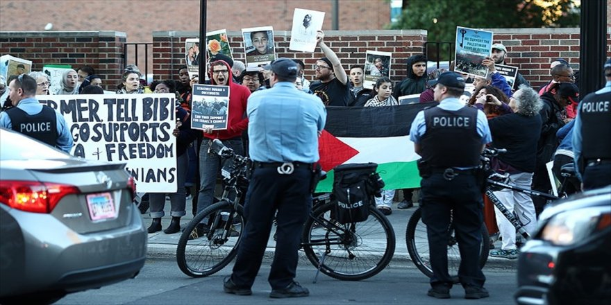 İsrail saldırıları ABD'de protesto edildi