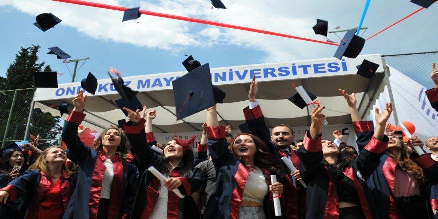 OMÜ İletişim Fakültesinde mezuniyet gururu