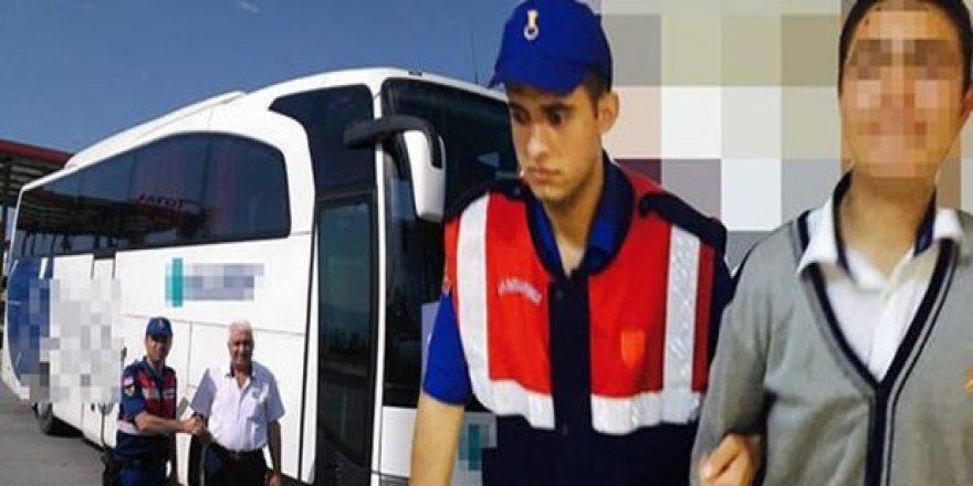 Çaldığı otobüsle kız kaçırmaya giderken yakalandı