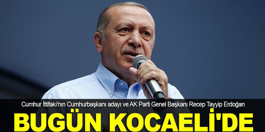 Erdoğan, bugün Kocaeli'de