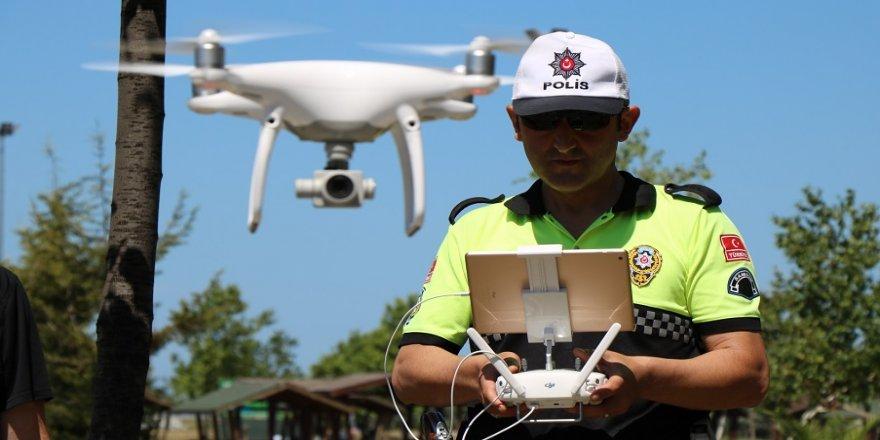 'Drone' ile trafik denetimi