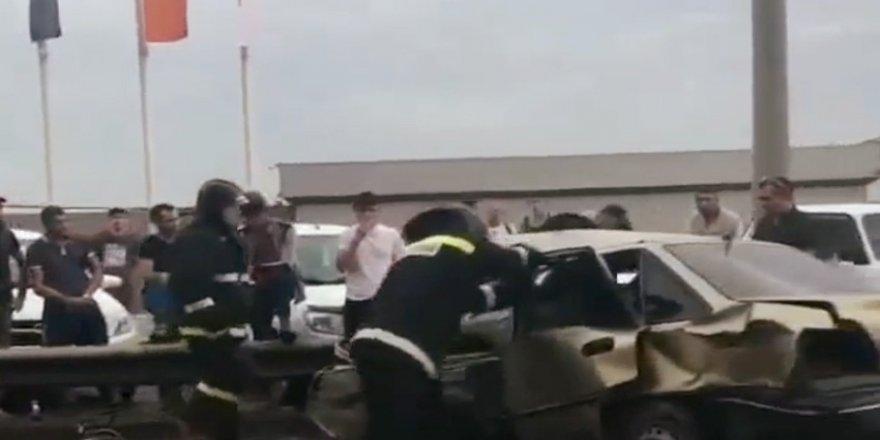 Dehşet verici kaza
