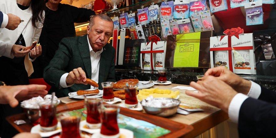 Erdoğan, Samsun simidi yedi