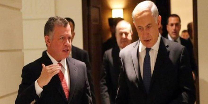 """Netanyahu ile Kral Abdullah """"Ortadoğu barışı""""nı görüştü"""
