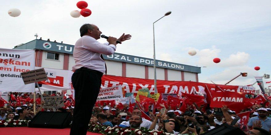 """CHP'nin Cumhurbaşkanı adayı Muharrem İnce: """"İlk kez bir seçimin kaybedeni olmayacak"""""""