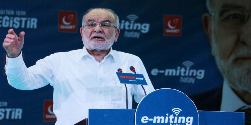 Karamollaoğlu'dan e-miting