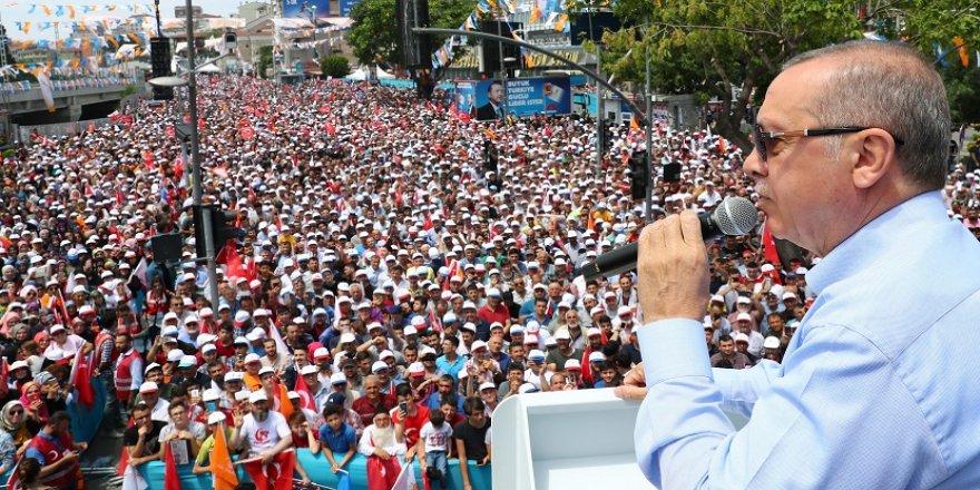Erdoğan: Vatandaşlarım gereken dersi verecek