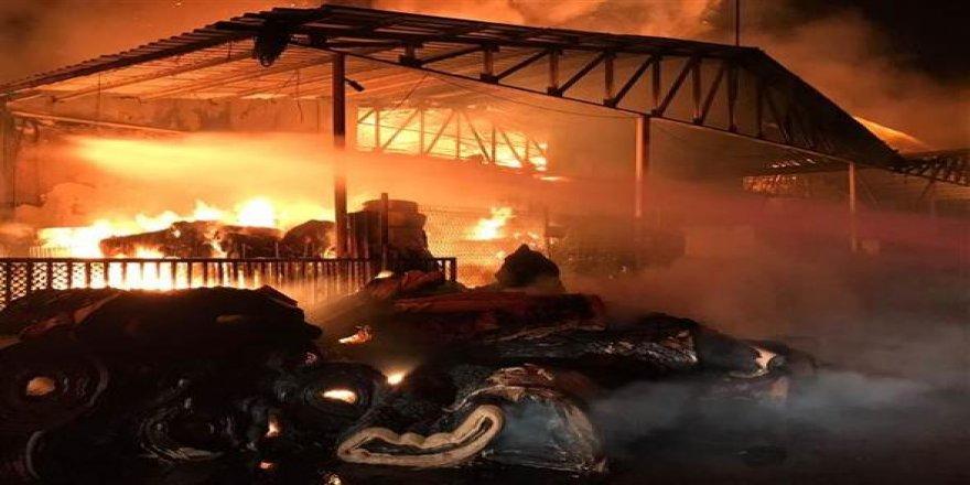 Ambalaj fabrikasında yangın!