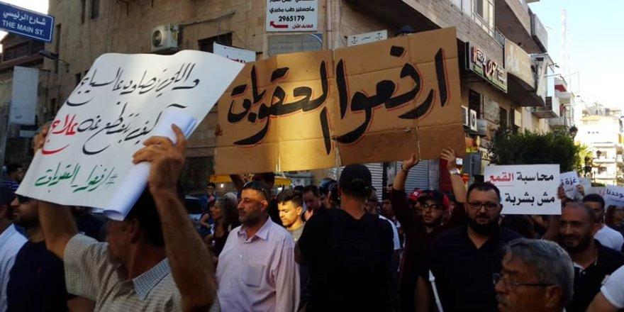 Ramallah'ta hükümet yaptırımlarına karşı protesto